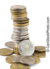 Greek drachma coins - An assortment of Greek drachma coins...