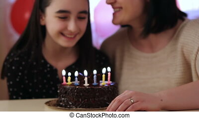 Mother and daughter birthday cake - Happy mother and...