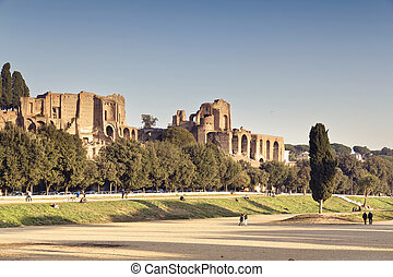 Circus Maximus - Ruins of Circus Maximus and the Domus...