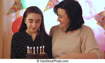 Mother and daughter birthday cake