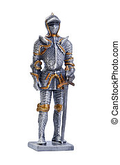 knight - isolated object on white - model knight