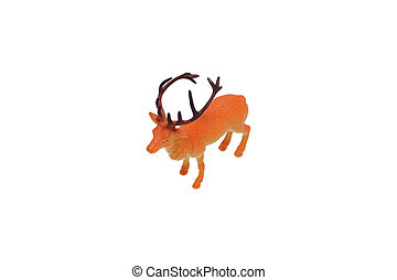 Toy deer Isolated on white