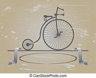 velocipede my great-grandfather - Retro velocipede stands...