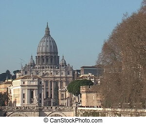 Dome of Saint Petro basilica in Rome
