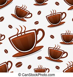 Seamless background of coffee