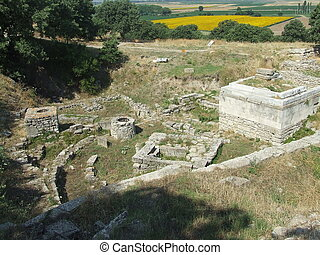Ancient ruins in Troy Turkey - Ancient troy ruins in...