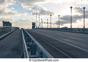 Drawbridge in early morning, Fort Lauderdale, Florida