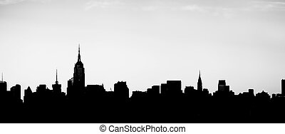 New York City Silhouette - A silhouette of the New York City...