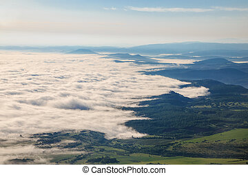 Mystical fog in the spring - Image of mystical fog in the...