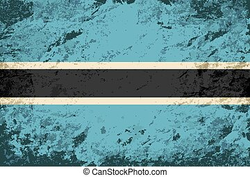 Botswana flag Grunge background Vector illustration