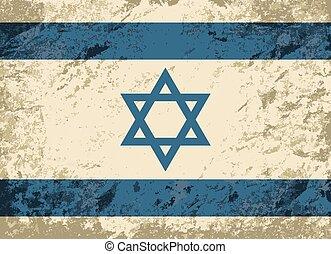 Israeli flag Grunge background.