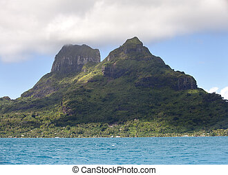 View on mountain Otemanu. Polynesia.