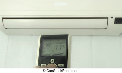 temperature adjustment means of the air conditioner