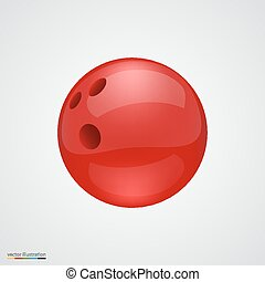 Red shiny and clean bawling ball Vector illustration