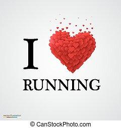 i love running heart sign.