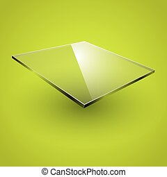 Glass framework on green background. Vector illustration.