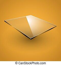 Glass framework. Vector illustration. - Glass framework on...