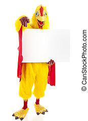 Super Chicken - Message For You - Man in a chicken suit...
