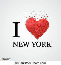 i love new york heart sign.