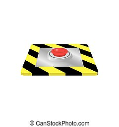 Emergency stop button. Vector illustration