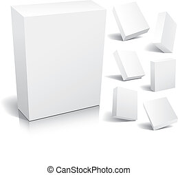 Blank box - Blank 3d boxes ready to use in your designs,...