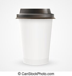 Close up of blank paper coffee cup