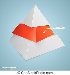 Pyramid icon for business concept background