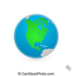 Continent North America. art earth. Vector Illustration