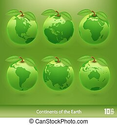 Ecology planet. Vector