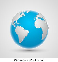 Background with earth art globe. Vector Illustration