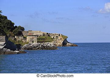 Tino island - Second world war fortification on Tino island