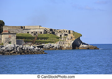 fortification on Tino island, Italy