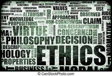 Ethics Concept Idea as a Background Illustration