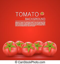 Cover with tomatoes art food Vector illustration