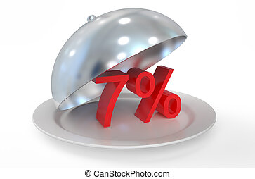 7 %,  sale and discount concept
