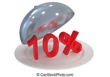 10 %,  sale and discount concept