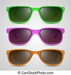 Sunglasses color Vector - Sunglasses color object Vector...