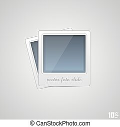 Foto frame art icon on a white background Vector...