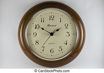 Analog clock on white background