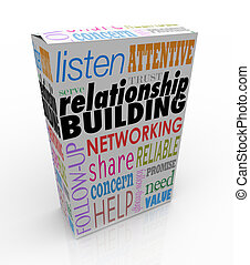 Relationship Building Product Box Advice Networking Grow...
