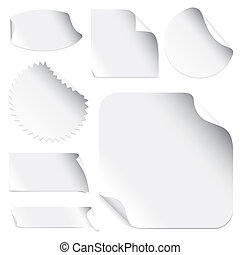 Stickers - Set Of Blank Stickers With Space For Text