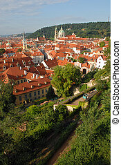 Red roofs landscape