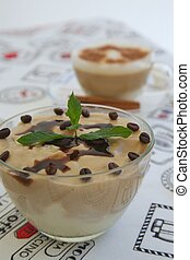 Pudding with cappuccino flavor - Pudding with cappuccino...