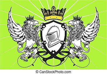 heraldic gryphon coat of arms2 - heraldic gryphon coat of...