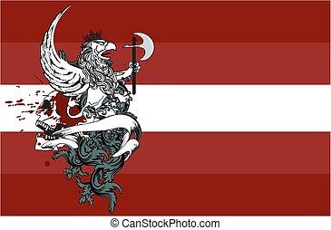 heraldic gryphon coat of arms6 - heraldic gryphon coat of...