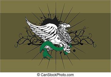 heraldic gryphon coat of arms7 - heraldic gryphon coat of...
