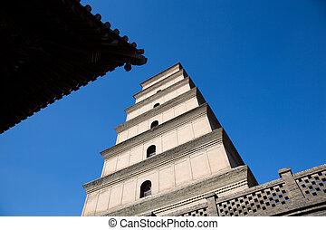 Big Wild Goose Pagoda in southern Xian, China - Big Wild...