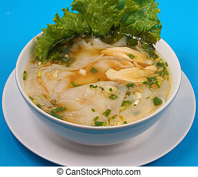 Glass noodle chicken soup thai style - Glass noodle soup...