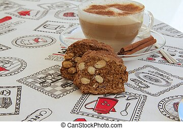 Italian biscuits with almonds - cantuccini - Italian...