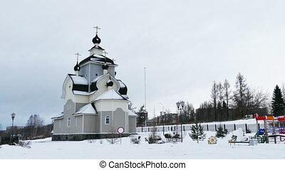 Orthodox Church in Kondopoga, Karelia, Russia